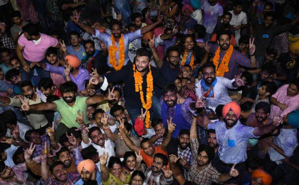 NSUI wins 3 seats; PUSU gets 1