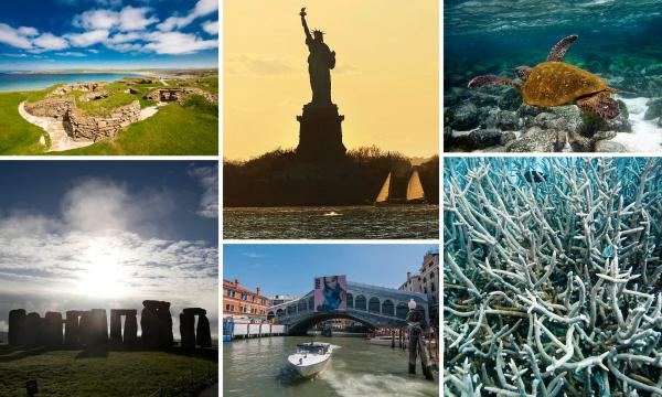 Statue of Liberty and Venice among sites at risk from climate change