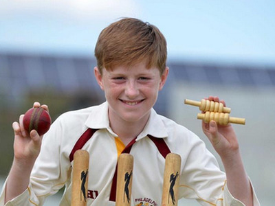 13-year-old bowler takes six wickets in an over