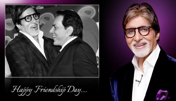Sr. Bachchan wishes Dharmendra, Shatrughan Sinha on friendship's day