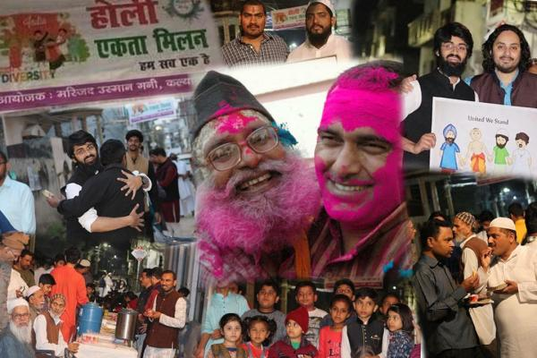 Lucknow shows the way: Holi Milan in a mosque compound!