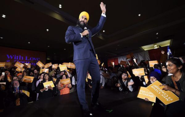 Jagmeet Singh becomes first non-white to lead a major party in Canada