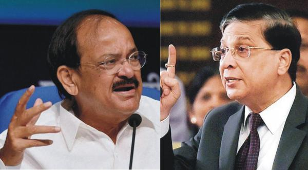 VP Venkaiah Naidu Rejects 'Untenable' Impeachment Motion Against CJI Misra