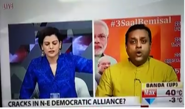 Nidhi Razdan throws out Sambit Patra during live debate, tells him not to come to NDTV