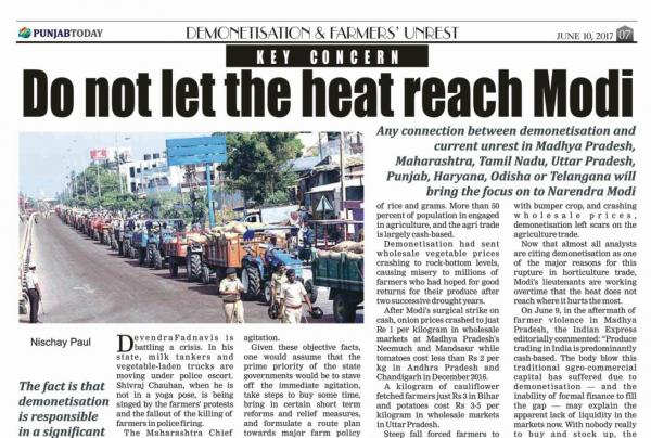 KEY CONCERN: Do not let the heat reach Modi
