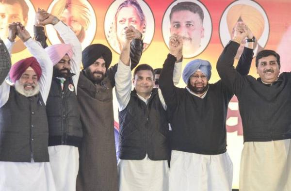 Rahul Gandhi officially names Capt Amarinder as Congress CM candidate