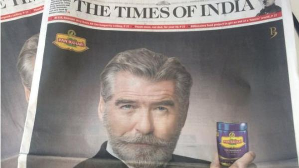 Pierce Brosnan demands removal of his image from Pan Bahar ad