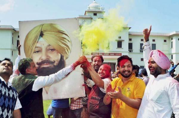 Congress wins 77 as Amarinder Singh turns 75, AAP Didn't Even Come Close
