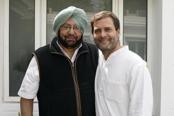Captain invites RaGa to attend the swearing-in ceremony