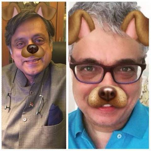 AIB meme row: Shashi Tharoor, Derek O'Brien take a dig at trolls, post selfies with dog filter