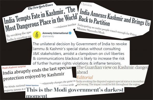 World is talking about Kashmir. What's it saying?