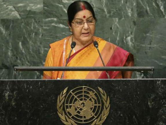 Sushma slams Pak's support of terrorism at UN, says such Nations 'As Culpable As Terrorists'