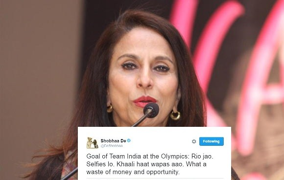 Shobhaa De evokes angry response from top sportspersons for her comment